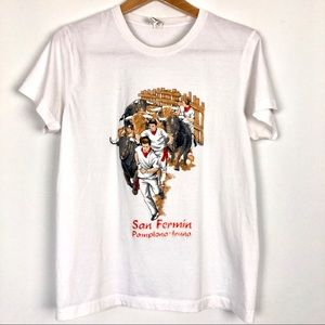 Vintage San Fermin Bull Fighting Graphic Tshirt